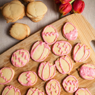 Dairy-Free Sugar Cookies & Dairy-free Raspberry Icing.