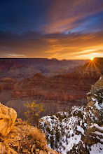 Photo: Day Break @ The Grand Canyon, AZ#landscapephotography  #photographyworkflow  #howtophotograph After wandering around at the bottom of the Grand Canyon we took a bit of time off to photograph the top. On the last day we got a fantastic sunrise and managed to capture some stunning colors just over the rim of the Grand Canyon.How was this photograph created?I used a 3 stop Hard GND filter and our iHDR workflow to manually blend the image together. The Filter was able to balance out the light between the sky and the ground, but the area around the sun was still over exposed. The sun star was created by using a small aperture to capture the scene.Enjoy & Share._______