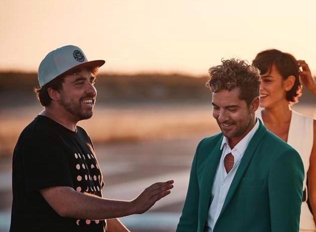 Rodríguez y Bisbal hablan durante la grabación.