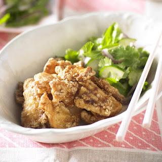 Spicy Calamari with Asian Salad.