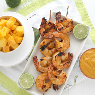 Mango Chili Lime Grilled Tiger Shrimp.