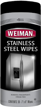 Weiman Stainless Steel Wipes - 30 wipes