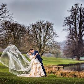 Ripley 04 by Pete Bristo MBE  - Wedding Bride & Groom ( ripley castle, wedding )