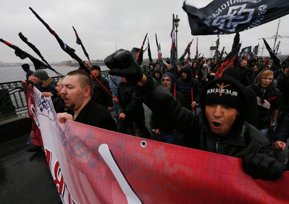 Russia St. Petersburg Rodina far-right nationalist