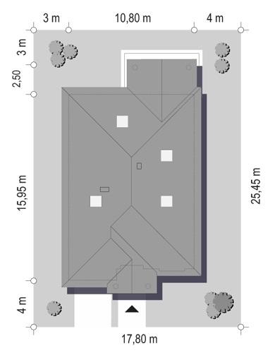 Dom na parkowej 7 B - Sytuacja