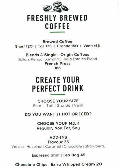 Starbucks menu 5