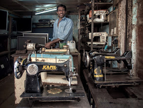Photo: Sewing Machine Heaven ... is in Mumbai, India. www.michiel-delange.com