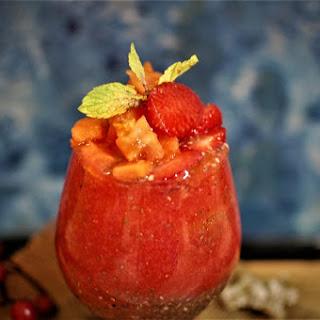 Strawberry Papaya Chia Seeds Smoothie.