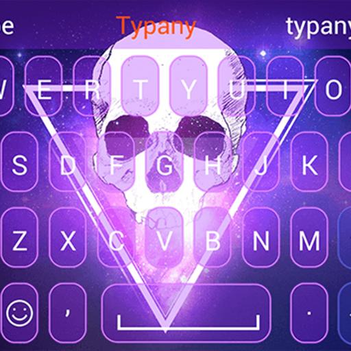 Flaming Skull Typany Theme