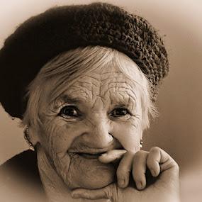 The Brave Heart by Mirela Korolija - People Portraits of Women ( senior citizen )
