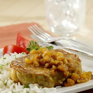 Pineapple Curried Pork Chops