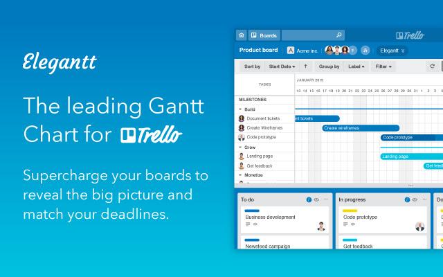 Elegantt   The leading Gantt Chart for Trello