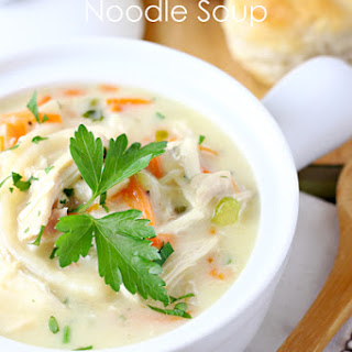 Creamy Chicken Noodle Soup.
