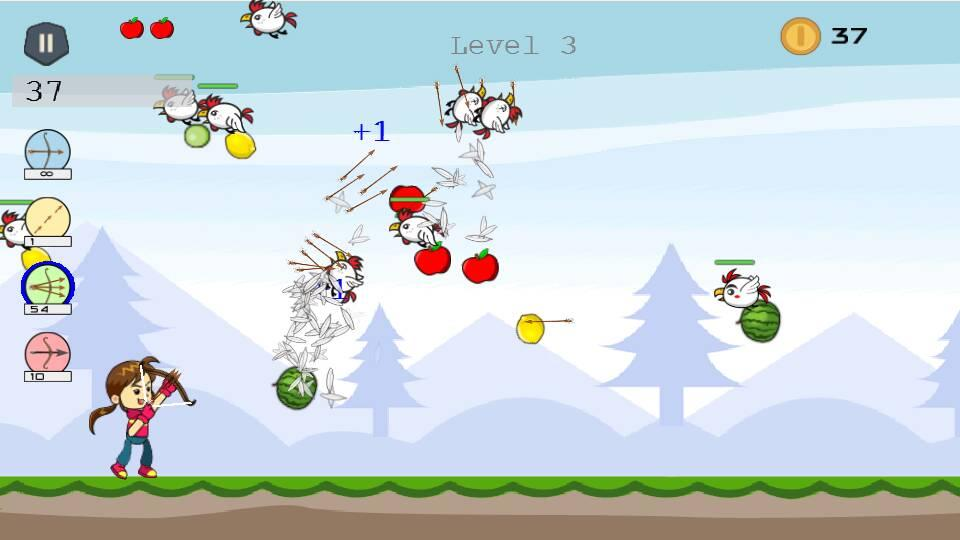 Shoot Girl's Fruits : Archery- screenshot