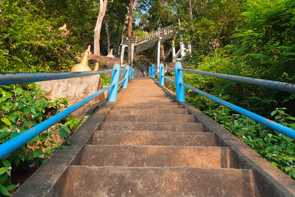 Climb to the top of Tiger Cave Temple
