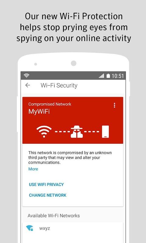 Norton Security and Antivirus screenshots