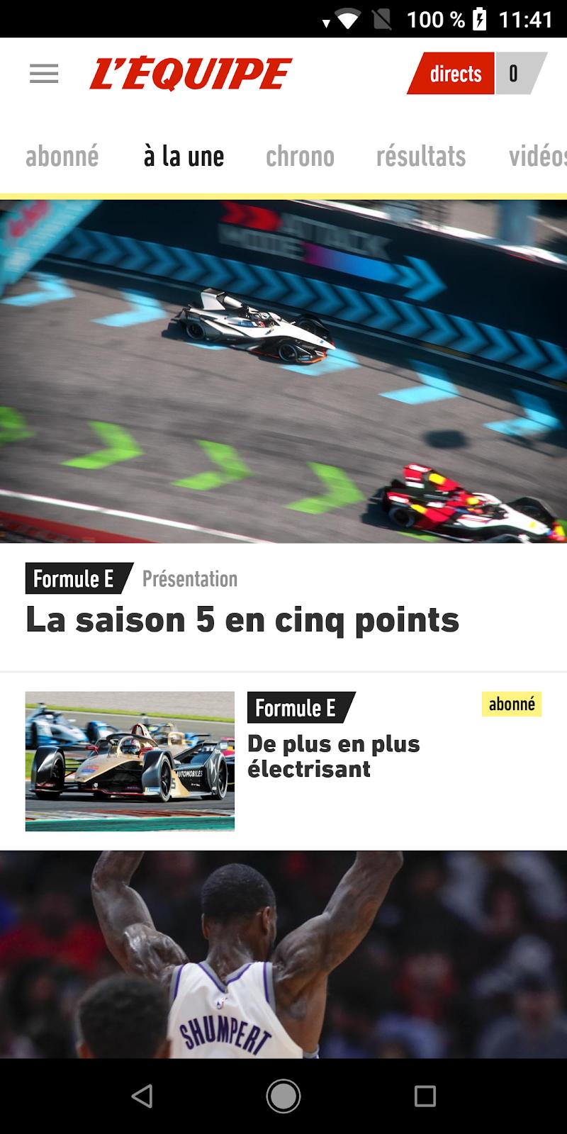L'Équipe - Sport en direct : foot, tennis, rugby.. Screenshot 0