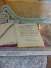 Photo: We couldn't get close, but I think this is the bible. Either that or the Da Vinci Code