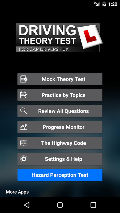 driving theory test uk for car drivers free android apps on google play. Black Bedroom Furniture Sets. Home Design Ideas