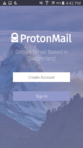 ProtonMail - Encrypted Email Screenshot