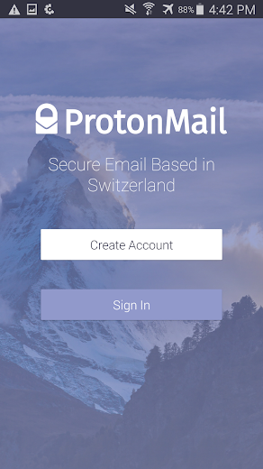 Screenshot 0 for ProtonMail's Android app'