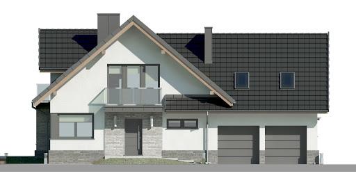 Dom przy Cyprysowej 15 K5 - Elewacja przednia