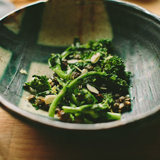 Garlicky Broccoli Rabe with Almonds and Fried Capers Recipe