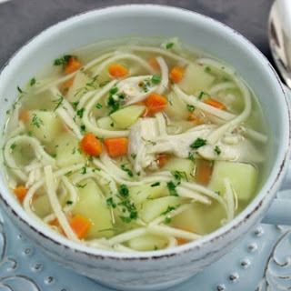 Russian Chicken Soup With Homemade Noodles