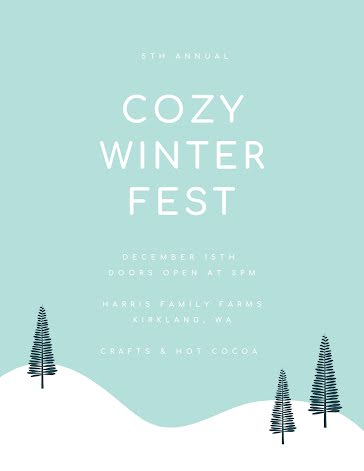 Cozy Winter Fest - Flyer template