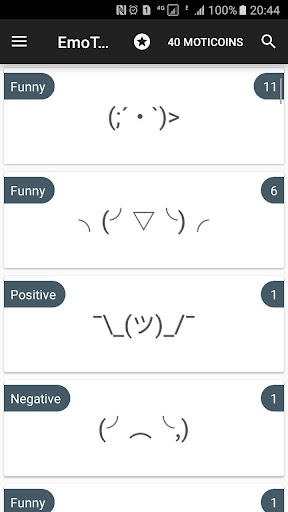 text faces for chat
