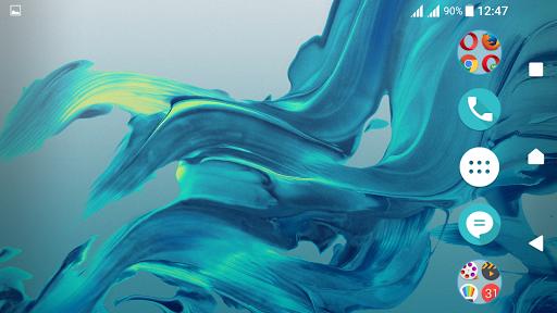 Delight Aqua XZ Theme Xperia screenshot 5