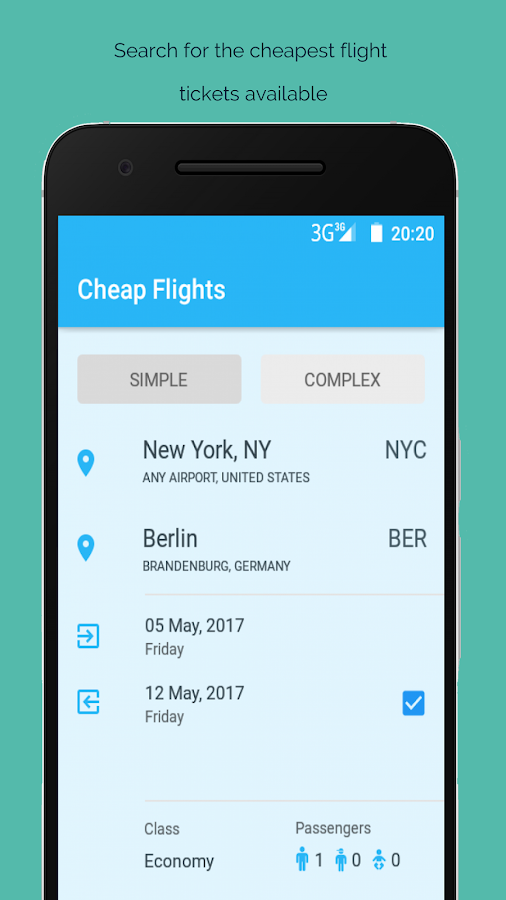 Cheap Flights Airline Booking- screenshot