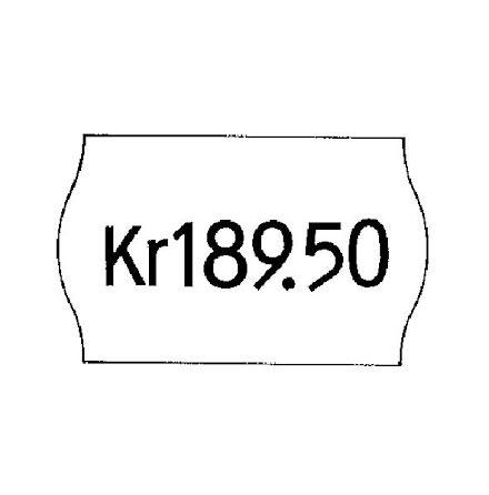 Etikett 26x12 vit avtagb. 6rl/