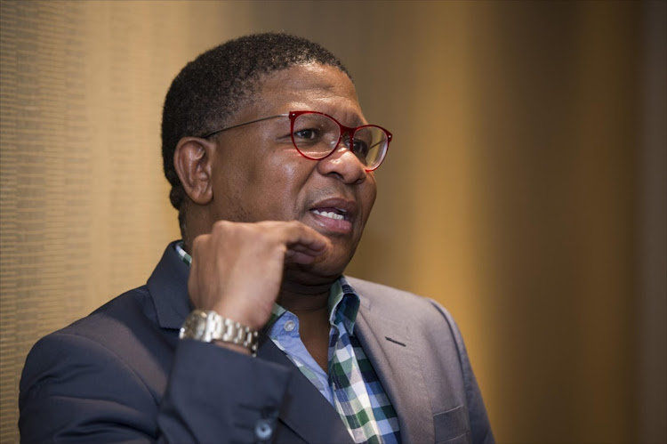 Transport minister Fikile Mbalula says Chippa United's chairman Siviwe 'Chippa' Mpengesi is 'abusing' Dan Malesela.