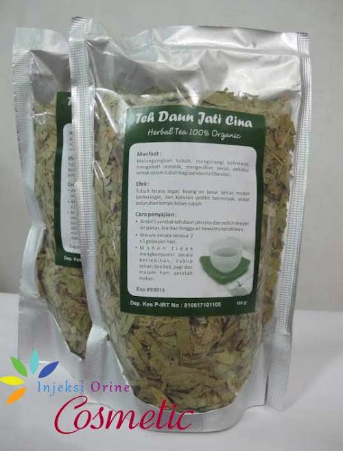 Teh Herbal Pelangsing Tubuh Teh Daun Jati Cina
