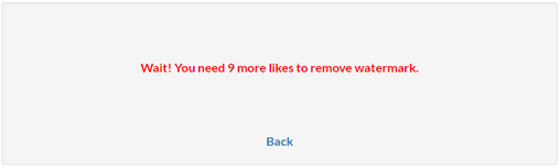 Not enough likes error message