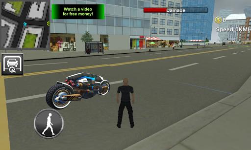未来のニューヨークオートバイ3D