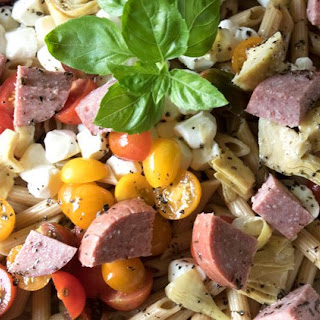Caprese Pasta Salad with Sausage
