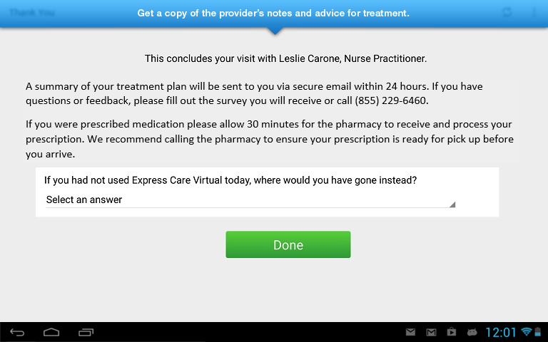 Express Care Virtual- screenshot