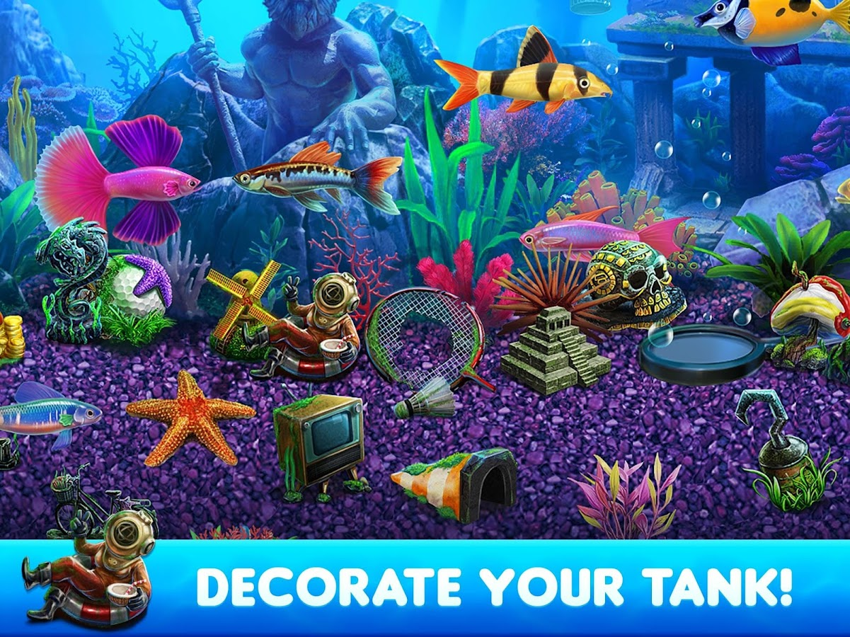 Fish tycoon 2 virtual aquarium android apps on google play for Fish tank game