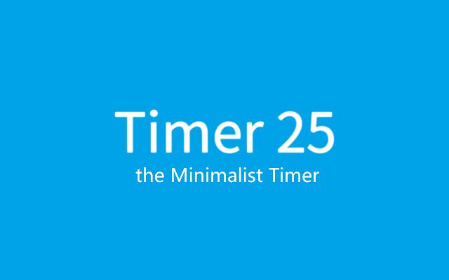 timer 25 the minimalist timer chrome web store