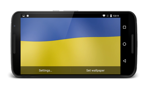 Ukraine Flag Live Wallpaper  screenshots 4