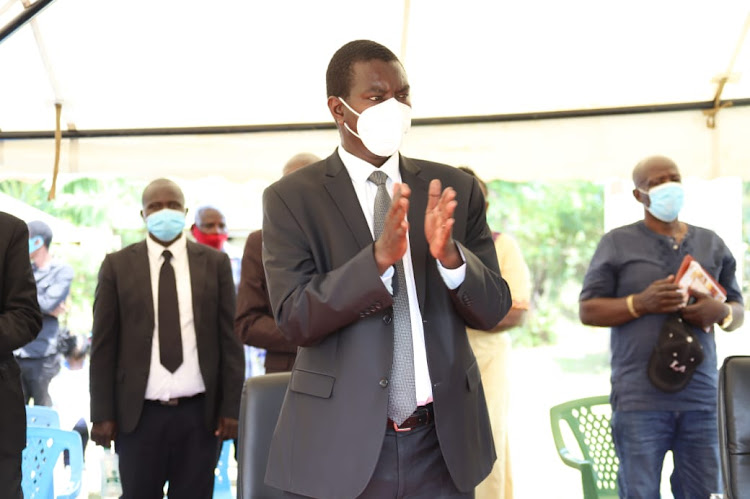 Uasin Gishu Governor Jackson Mandago at a burial in Homa Bay on August 30, 2020