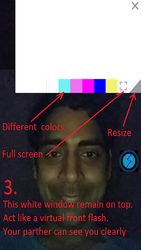 Flash For Video Call in Dark 9.0 screenshots 6