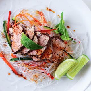 Jill Dupleix's five-spice pork rice paper roll