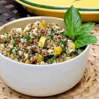Summer Squash Salad with Quinoa and Mozzarella.