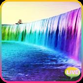Neon Waterfall Live Wallpaper
