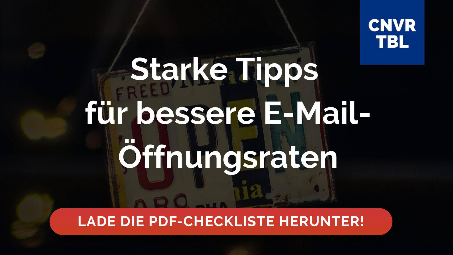 Checkliste E-Mail-Öffnungsraten