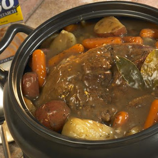 Slow Cooker Beef Pot Roast with Gravy.