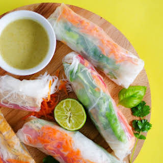 Thai Green Curry Spring Rolls.